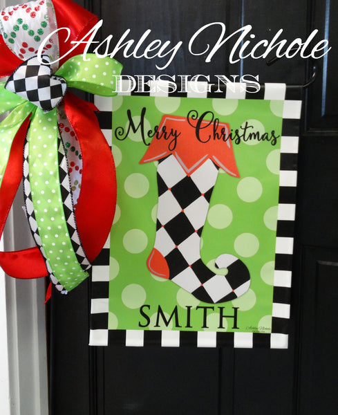 Christmas Stocking Garden Vinyl Flag