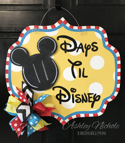 Disney Countdown Plaque Door Hanger