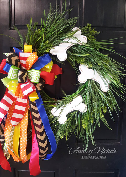 Dog Bone Grass Wreath