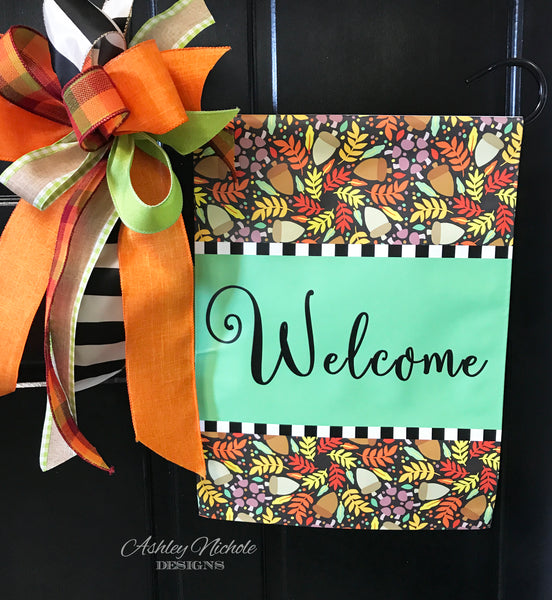 Fall Mixture - Welcome - Vinyl Garden Flag