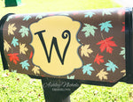 Falling Leaves - Brown - Fall Mailbox Cover