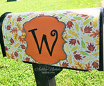 Falling Leaves - Cream - Fall Mailbox Cover