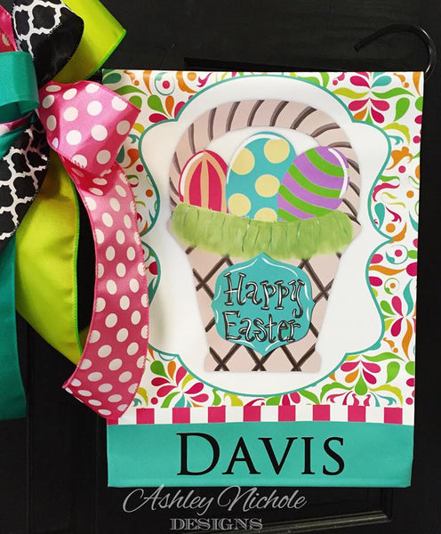 Easter Basket Garden Vinyl Flag