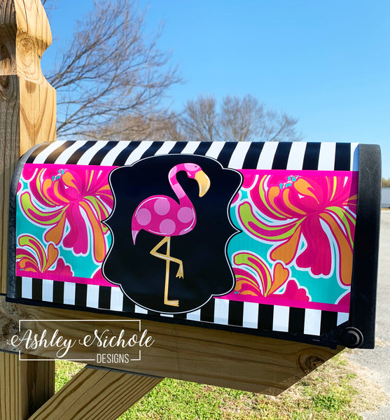 Flamingo Mailbox Cover - Magnetic