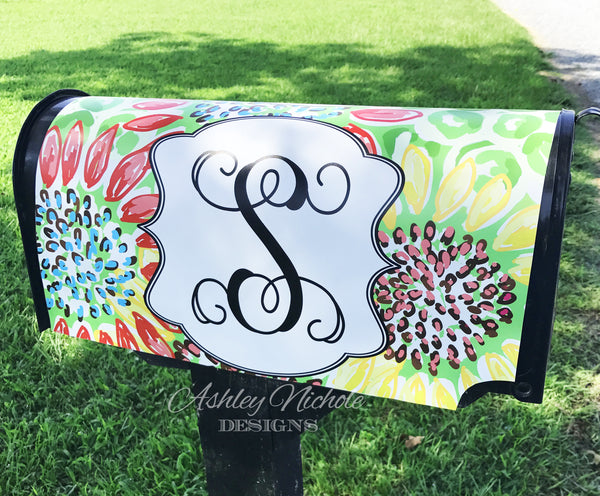 Floral Sunflower-Welcome-Vinyl Mailbox Cover