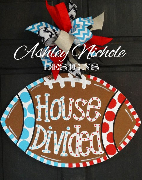 Football-House Divided - Door Hanger