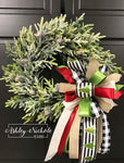 "20"" Frosted Mini Fir Wreath"