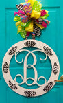 Ribbon Monogram - 22""