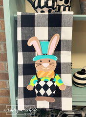 Funky Bunny-Buffalo Check Dish Towels