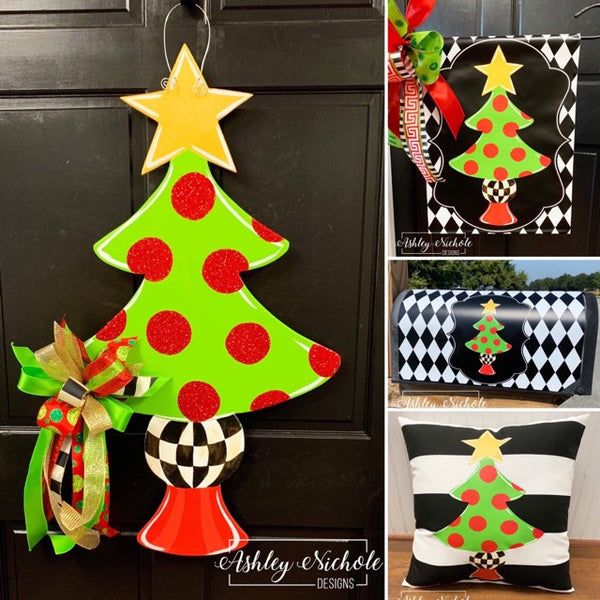 Combo Sets!!! Christmas Tree Gold Star and Checkered Collection