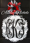 "Monogram Custom Plaque with 18"" 3-Letter Monogram"