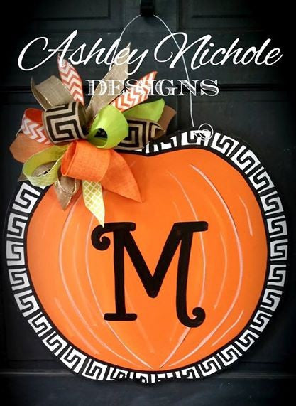 Greek Key Fall Pumpkin