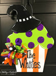 Halloween Cupcake Door Hanger