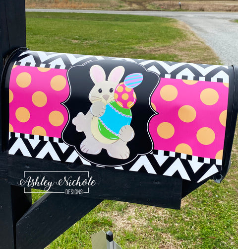 Bunny with Egg Stack - Mailbox Cover