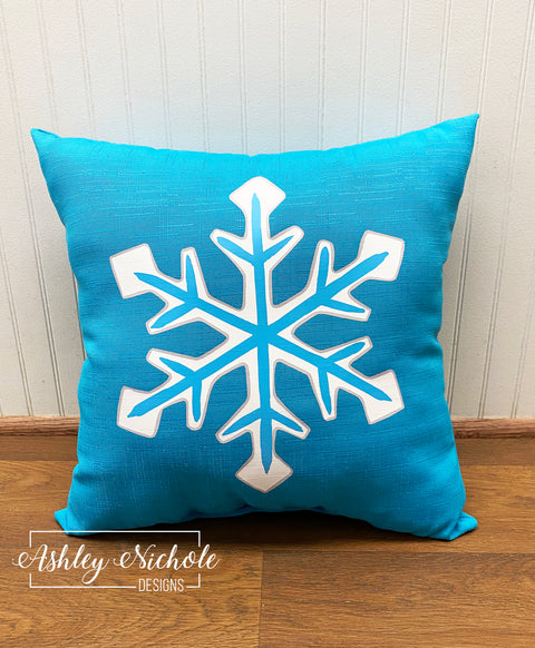 "18"" Custom-Snowflake Pillow"