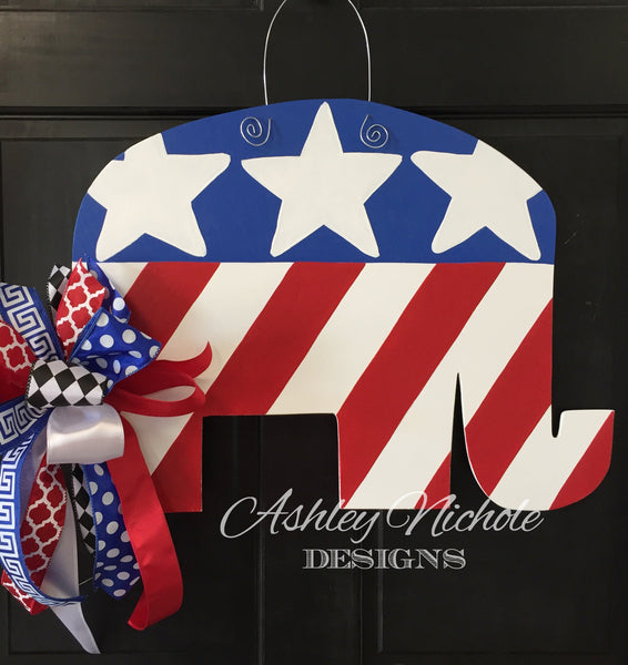 Republican Elephant Door Hanger