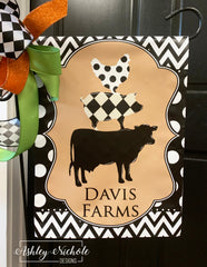 Farm Trio Vinyl Garden Flag