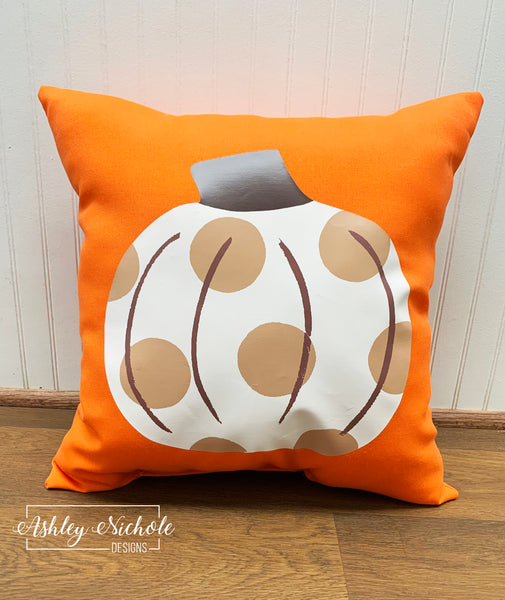 "18"" Custom - Neutral Pumpkin - Orange Fabric"
