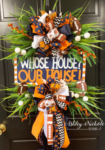 School Spirit Plaque Saying Wreath