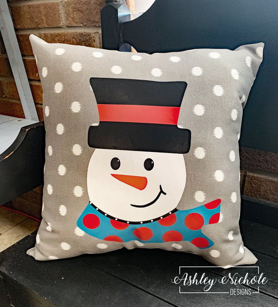 "18"" Custom-Snowman Head Pillow"