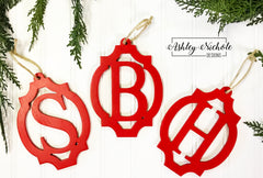 Oval Monogram Ornament