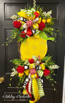 Wooden Lemon & Florals Wreath
