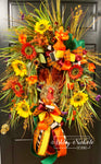 Turkey & Floral Wreath - Colorful