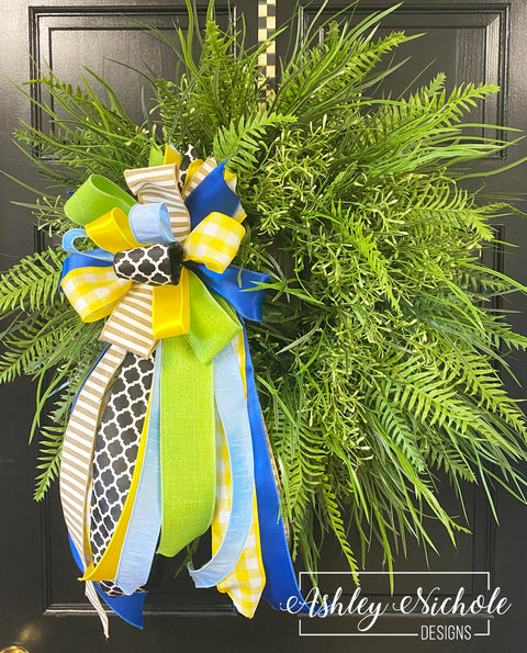 "28"" Fern & Grasses Greenery Wreath"
