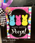 Peeps!!!!! Happy Easter Vinyl Garden Flag