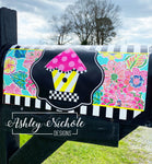 Birdhouse - Checkered - Colorful Magnetic Mailbox Cover