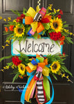 Welcome Wreath - Colorful