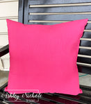 "18"" Outdoor Pillow-Solid Hot Pink"
