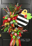 Ornament - Striped Wreath