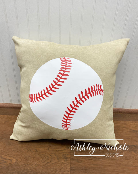 "18"" Custom - Baseball Pillow"
