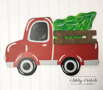 Tree Topper - Wooden Christmas Tree Truck ONLY