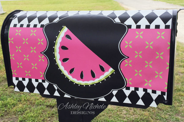 Funky Watermelon-Pink Magnetic Mailbox Cover