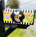 Bumble Bee & Spring Flower Magnetic Mailbox Cover