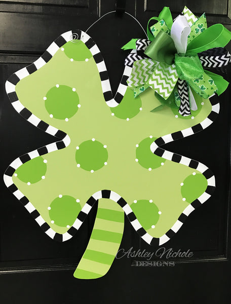 Shamrock-St. Patrick's Day-Door Hanger