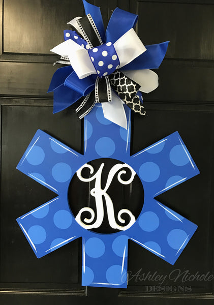 EMS Monogram Polka Dot Door Hanger