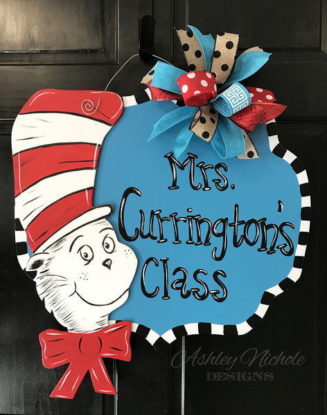 Dr. Seuss Name Plaque Door Hanger