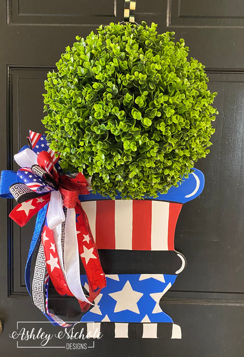 Topiary - Patriotic - Door Hanger