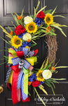 "Summer Blooms - 24"" OVAL Wreath"