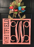 "24"" Vertical Name Monogram Door Hanger"