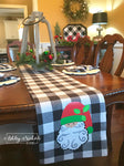 Santa Buffalo Check Table Runner