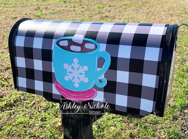 Hot Chocolate Mug Mailbox Cover