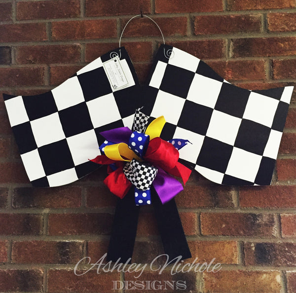 Nascar Racing Flags Door Hanger