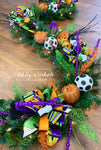 Garland - LIGHTED - Glittery HALLOWEEN Fun - 9'