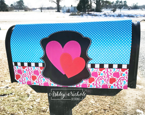 Hearts and Swirls Mailbox Cover