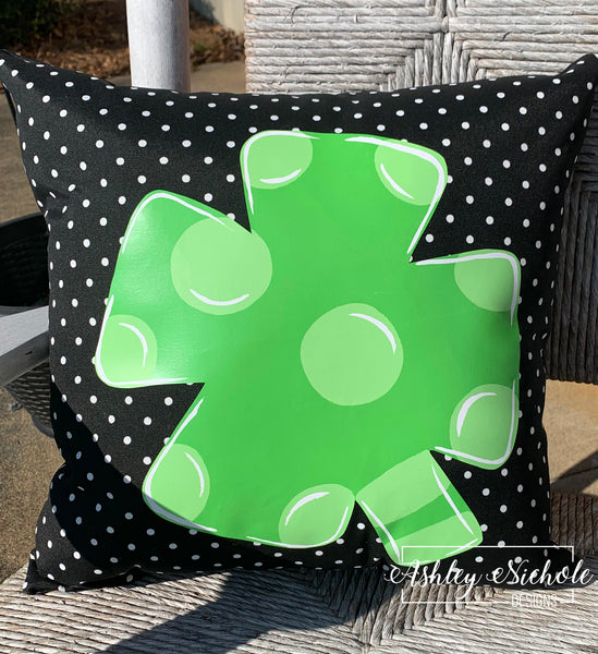 "18"" Lucky Clover - Shamrock Custom Pillow"