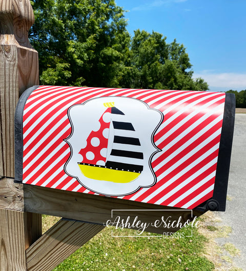 Sailboat Magnetic Mailbox Cover